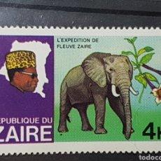Sellos: ZAIRE_SELLO NUEVO_ELEFANTE AFRICANO MOBUTU 4K_YT-CD 928 AÑO 1979 LOTE 7740. Lote 194746860