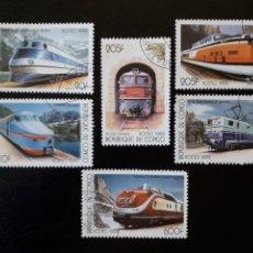 Sellos: CONGO. SIN CATALOGAR EN YVERT. SERIE COMPLETA USADA DE 6 VALORES. TRENES 1999.. Lote 196335001