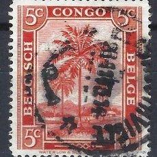 Timbres: CONGO BELGA 1942 - ASPECTOS LOCALES, PALMERA - SELLO USADO. Lote 206229247