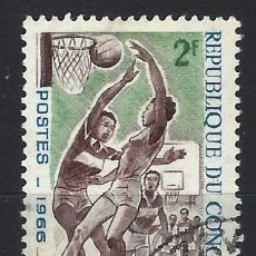 Francobolli: REP. DEL CONGO 1966 - DEPORTES - SELLO USADO. Lote 206262657