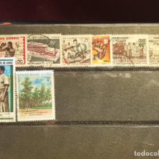 Sellos: REPÚBLICA DEL CONGO. 8 SELLOS. Lote 207429098