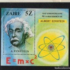 Sellos: ZAIRE HB 18** - AÑO 1980 - CENTENARIO DEL NACIMIENTO DE ALBERT EINSTEIN. Lote 212101960