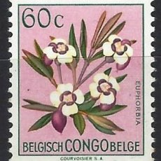 Timbres: CONGO BELGA 1952-53 - FLORES, EUPHORBIA POGGEI - MNH**. Lote 214747501