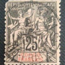 Sellos: SELLOS POSTALES DE FRANCIA - CONGO 1892 INSCRIPCIÓN CONGO FRANCAIS. Lote 220079130