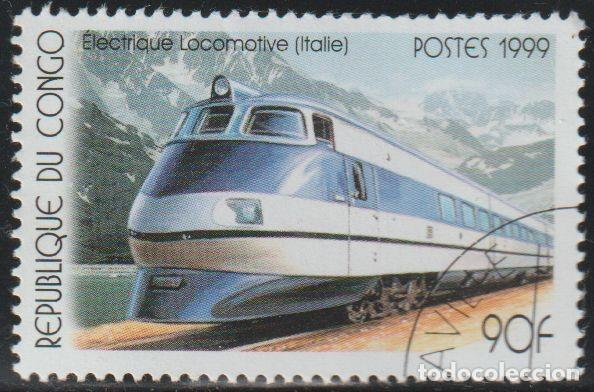 CONGO 1999 SCOTT 1684 SELLO * TRANSPORTE TRENES LOCOMOTORA ELECTRICA ITALIANA MICHEL 1684 STAMPS (Sellos - Extranjero - África - Congo)