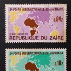 Sellos: 1973 REPÚBLICA DEMOCRÁTICA DEL CONGO (ZAIRE) 3ª FERIA INTERNACIONAL DE KINSHASA. Lote 221478606