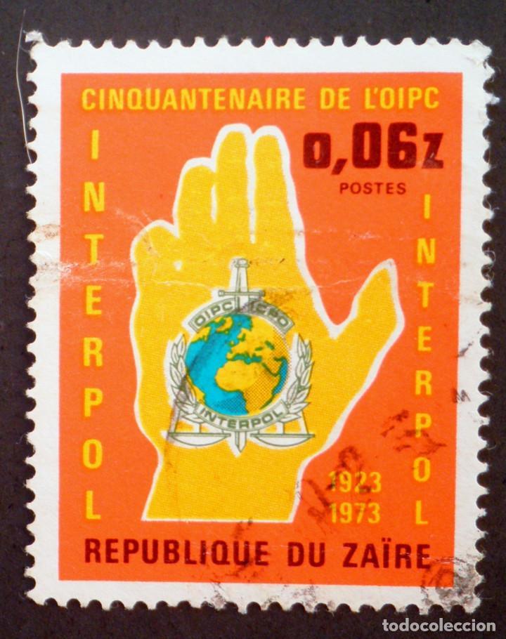1973 REPÚBLICA DEMOCRÁTICA DEL CONGO 50 ANIVERSARIO DE LA INTERPOL (Sellos - Extranjero - África - Congo)