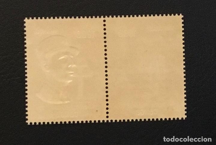 Sellos: 1971-CONGO Yvert y Tellier PA 135/136 HOMENAJE A DE GAULLE - SELLO ORO FOIL NUEVO SIN CHARNELA - Foto 2 - 234737695