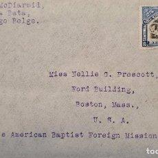 Sellos: O) 1915 CONGO BELGA, INKISI FALLS, MUJER AMERICANA BAUTISTA EXTRANJERA SOCIEDAD DE MISIÓN, A EE. UU.. Lote 235555390