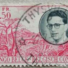 Sellos: 1955. CONGO-BELGA. 329. RETRATO DEL REY BALDUINO I DE BÉLGICA. MONTAÑAS. USADO.. Lote 243340975