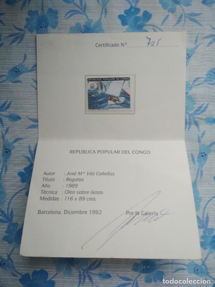 SELLO REPUBLICA POPULAR DEL CONGO CON SU CERTIFICADO DE AUTENTICIDAD (Sellos - Extranjero - África - Congo)