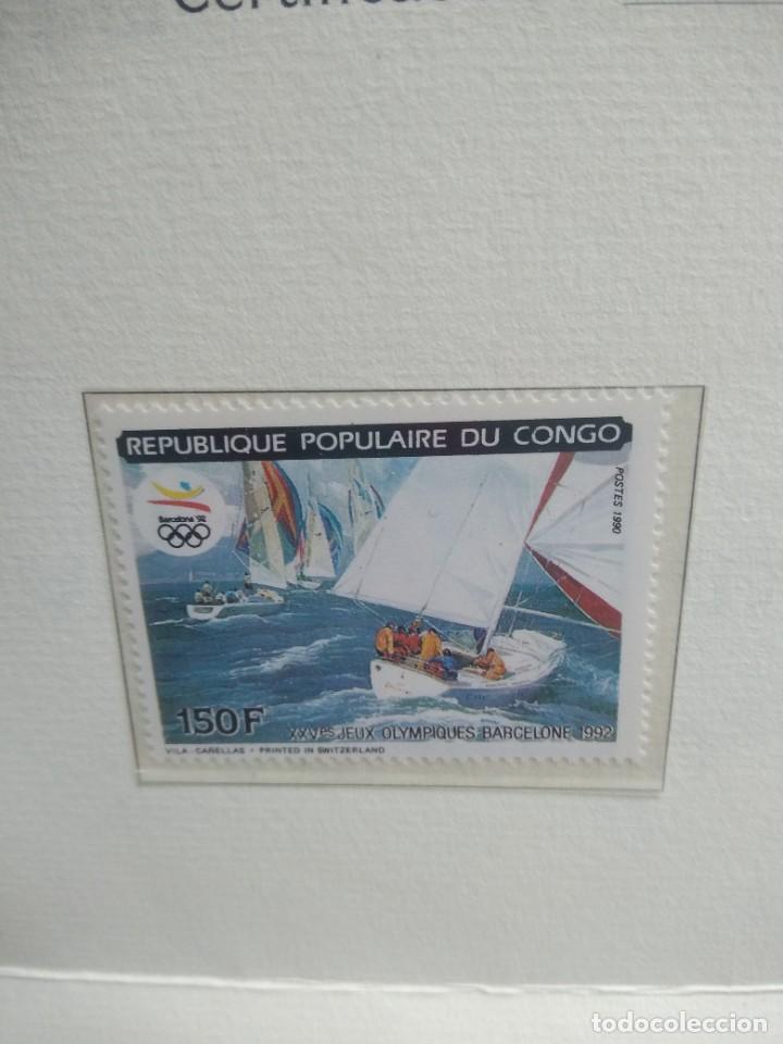 Sellos: Sello republica popular del congo con su certificado de autenticidad - Foto 2 - 244689880