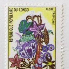 Sellos: SELLO DE CONGO 1 F - 1971 - FLORA TROPICAL - NUEVO SIN SEÑAL DE FIJASELLOS. Lote 254045490