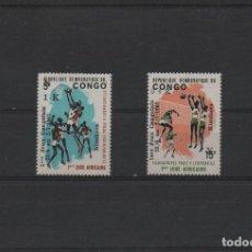 Sellos: SERIE COMPLETA NUEVA DE REPÚBLICA DEMOCRÁTICA DEL CONGO DE 1967. TEMA DEPORTES. Lote 262865225