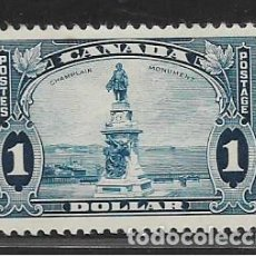 Sellos: CANADA, 1 DOLLAR, MONUMEMT A CHAMPLAIN, VER FOTO. Lote 263593035