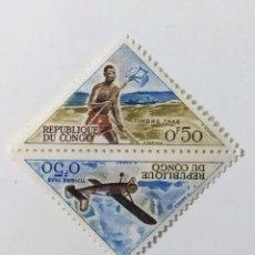 Sellos: SELLO DE CONGO 0,50 F - 1961 - MEDIOS DE TRANSPORTE - NUEVO SIN SEÑAL DE FIJASELLOS. Lote 269369453