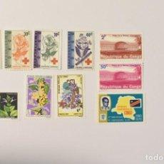 Sellos: 10 SELLOS NUEVOS DEL CONGO. Lote 276954253