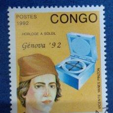 Sellos: CONGO 1992. VICENTE YÁÑEZ PINZÓN. YT:CG 956,. Lote 290985513