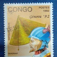 Sellos: CONGO 1992. BARTOLOMÉ COLÓN. YT:CG 957,. Lote 290991043