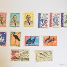 Sellos: 12 SELLOS NUEVOS DEL CONGO. Lote 294084388