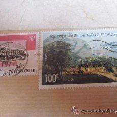 Sellos: DOS SELLOS USADOS DE 10 Y 100 FRANCOS COSTA DE MARFIL . Lote 33798544