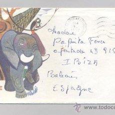 Sellos: COSTA DE MARFIL, SOBRE CIRCULADO. Lote 34516905