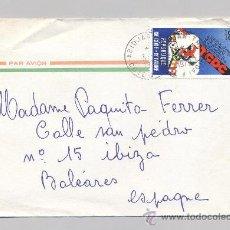 Sellos: COSTA DE MARFIL, SOBRE CIRCULADO. Lote 34516935