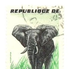 Sellos: IVOIRE-177U. SELLO USADO COSTA DE MARFIL. YVERT Nº 177. ELEFANTE. Lote 43866846