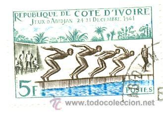 IVOIRE-201U. SELLO USADO COSTA DE MARFIL. YVERT Nº 201. JUEGOS D'ABIDJAN (Sellos - Extranjero - África - Costa de Marfil)