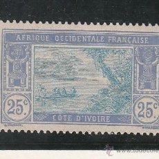 Sellos: COSTA DE MARFIL 48 SIN GOMA, LAGUNA EBRIE . Lote 42213336