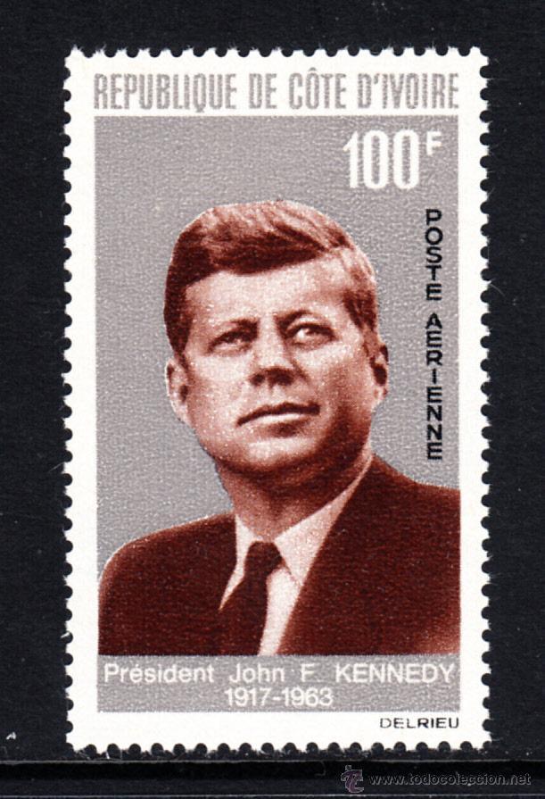 COSTA DE MARFIL AEREO 33** - AÑO 1964 - ANIVERSARIO DE LA MUERTE DEL PRESIDENTE JOHN F. KENNEDY (Sellos - Extranjero - África - Costa de Marfil)
