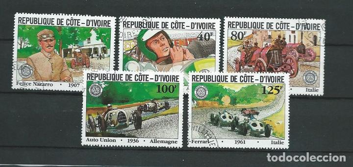 COSTA DE MARFIL,AUTOMOVILISMO,1981,USADOS (Sellos - Extranjero - África - Costa de Marfil)