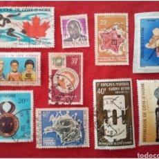 Francobolli: LOTE 10 SELLOS DE COSTA DE MARFIL N35. Lote 91556784