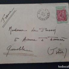 Sellos: CARTA CIRCULADA COTONON DAHOMEY A MALO LES BAINS 1935. Lote 106055659