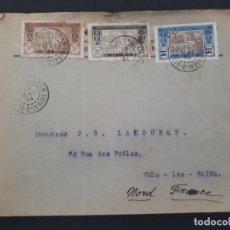 Sellos: CARTA CIRCULADA DE GRAND BASSAM A MALO LES BAINS 1934. Lote 106057647