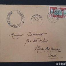 Sellos: CARTA CIRCULADA DE PORT GENTILE A MALO LES BAINS MATASELLO DE DUNKERQUE CLUB PHILATELIQUE 1924. Lote 106059155