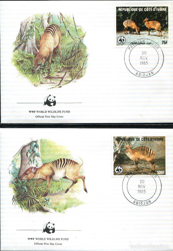 Sellos: COSTA DE MARFIL 1985 Mi 881 a 884 4 sellos MNH + 4 FDC + 4 tarjetas maximas WWF - Foto 2 - 106912519