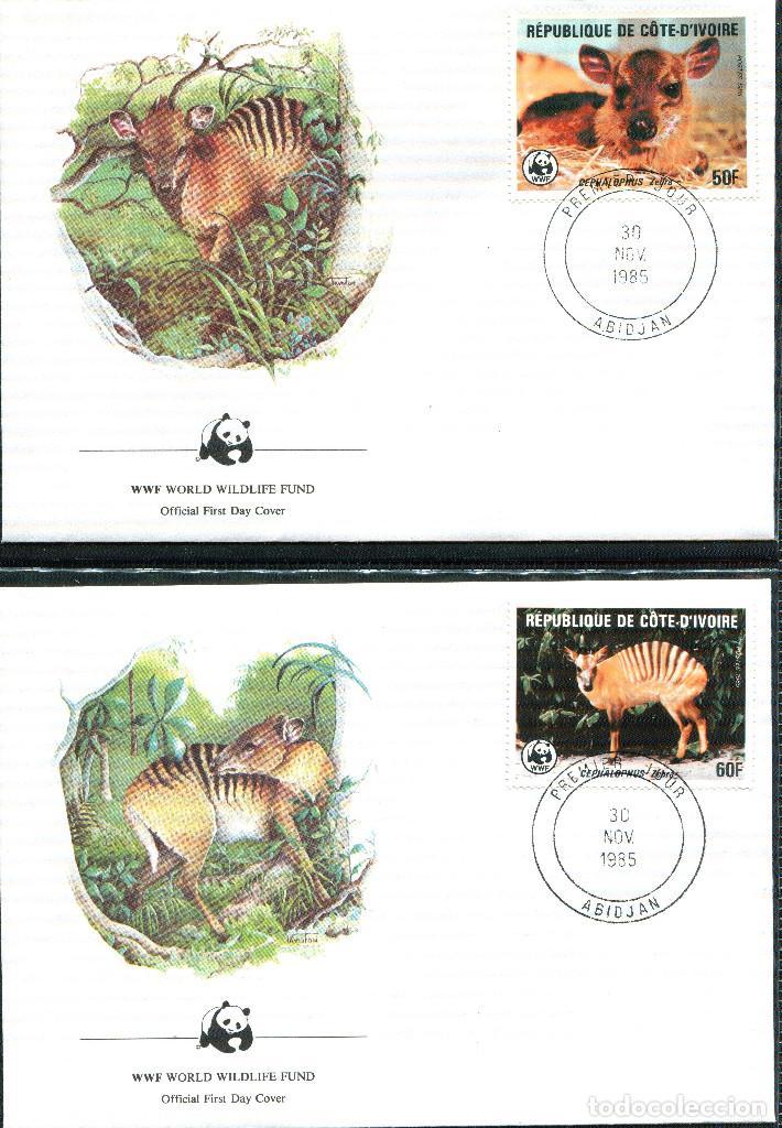 Sellos: COSTA DE MARFIL 1985 Mi 881 a 884 4 sellos MNH + 4 FDC + 4 tarjetas maximas WWF - Foto 3 - 106912519
