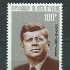 Sellos: COSTA DE MARFIL - AEREO YVERT 33 ** MNH KENNEDY. Lote 155808769
