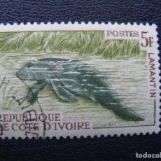 Sellos: COSTA DE MARFIL, 1963 MANATI, YVERT 214A. Lote 163726702