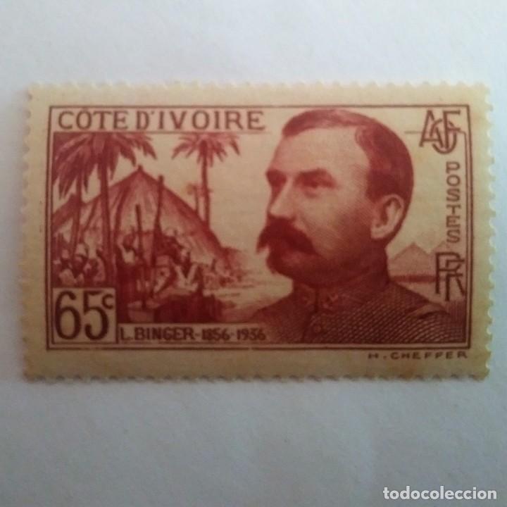 COTE D'IVOIRE. COSTA DE MARFIL. 65C L. BINGER 1856 - 1936 (Sellos - Extranjero - África - Costa de Marfil)