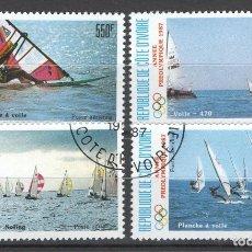 Sellos: COSTA DE MARFIL (COSTA DE IVORI) 1987. Lote 181998225