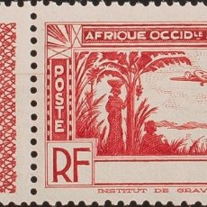 Sellos: COSTA DE MARFIL, AÉREO. MNH **YV 2A. 1940. 2´90 F ROJO. SIN LEYENDA COTE D´IVOIRE. MAGNIFICO. YVERT. Lote 183143670