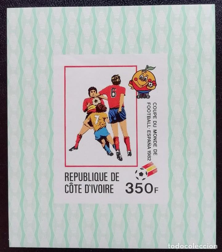 1981. DEPORTES. COSTA DE MARFIL. SELLO 587 EN HB. PRE-MUNDIAL DE FÚTBOL DE ESPAÑA '82. NUEVO. (Sellos - Extranjero - África - Costa de Marfil)