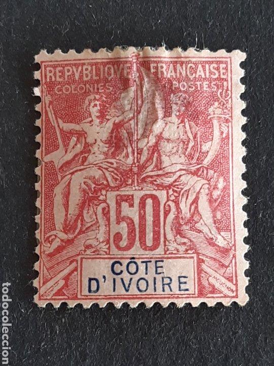 COSTA DE MARFIL 1892-99 YVERT 11 (Sellos - Extranjero - África - Costa de Marfil)