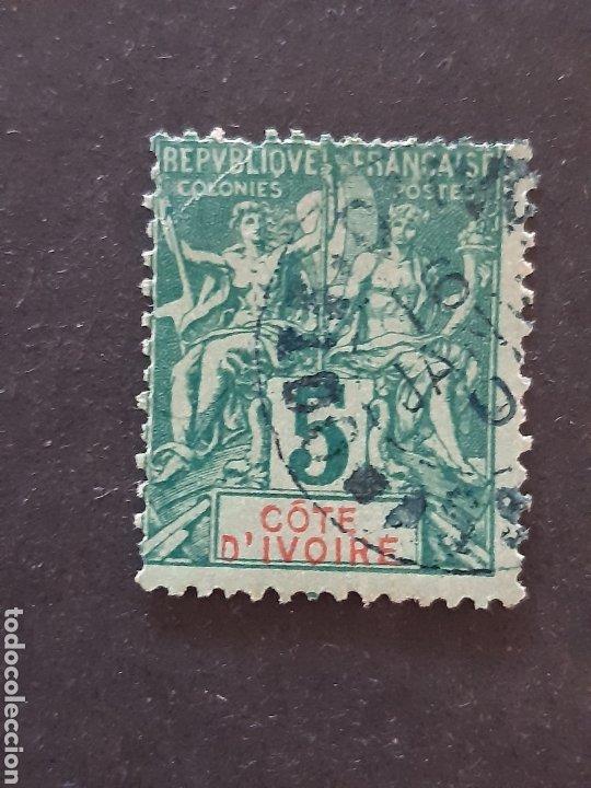 COSTA DE MARFIL, YVERT 4, 1892-99 (Sellos - Extranjero - África - Costa de Marfil)