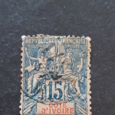 Sellos: COSTA DE MARFIL, YVERT 6, 1892-99. Lote 194100973