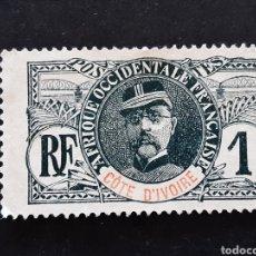 Timbres: COSTA DE MARFIL, YVERT 21, 1906-07. Lote 194101151