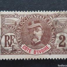 Timbres: COSTA DE MARFIL, YVERT 22, 1906-07. Lote 194101163