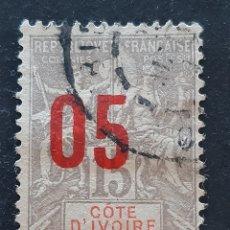 Sellos: COSTA DE MARFIL, YVERT 36, 1912. Lote 194101202